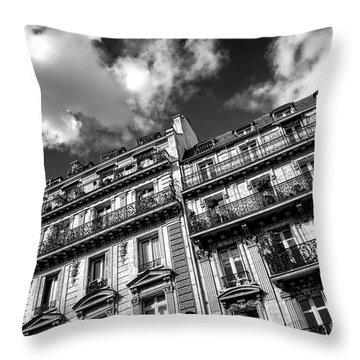 Parisian Buildings Throw Pillow by Olivier Le Queinec