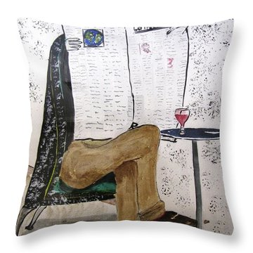 Parisian Daily Throw Pillow by Gary Smith