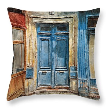Parisian Door No.36 Throw Pillow