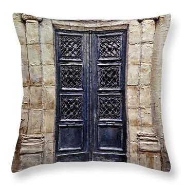 Parisian Door No.40 Throw Pillow