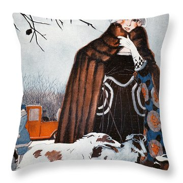 Parisian Style, 1921 Throw Pillow by Granger