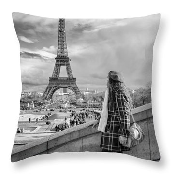 Parisien 2 Throw Pillow