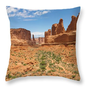 Throw Pillow featuring the photograph Park Avenue - Arches National Park by Aaron Spong
