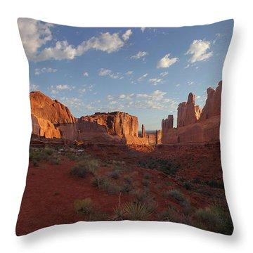 Park Avenue Arches National Park Throw Pillow