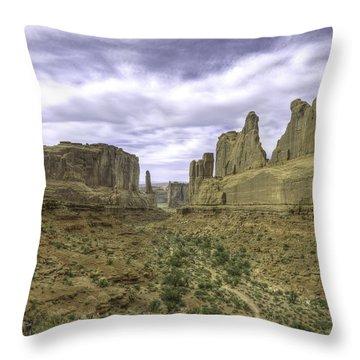 Park Avenue Throw Pillow by R Thomas Berner