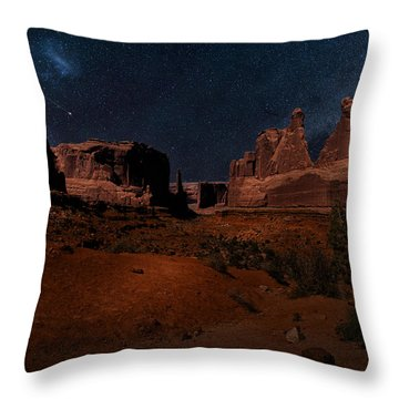 Park Avenue Trailhead Throw Pillow