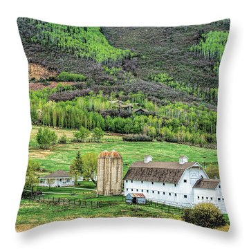 Park City Utah Barn Throw Pillow