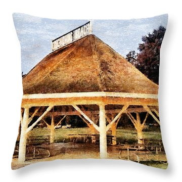 Park Gazebo Throw Pillow