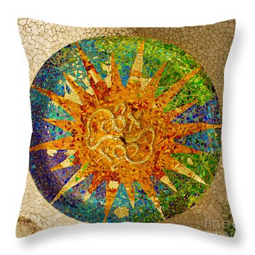 park Guell, Barcelona, Spain Throw Pillow