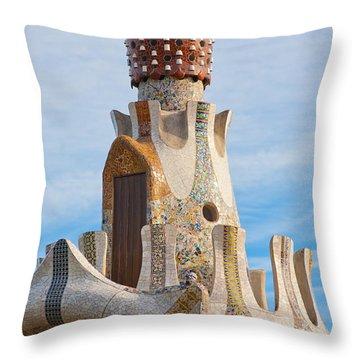 Park Guell Tower Throw Pillow