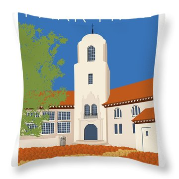 Park Hill Blue Throw Pillow