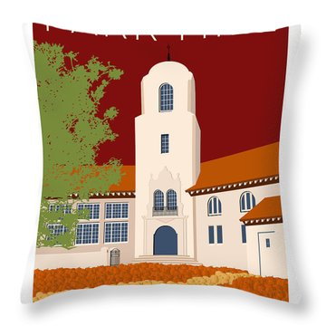 Park Hill Maroon Throw Pillow