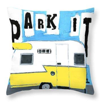 Park It-yellow Throw Pillow