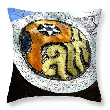 Park Letters In Collage Throw Pillow