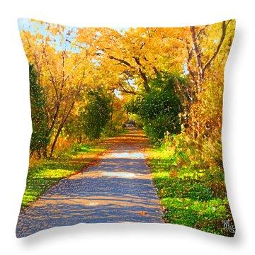 Park Path Throw Pillow