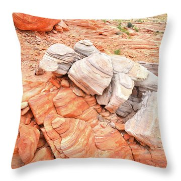 Throw Pillow featuring the photograph Park Road Sandstone In Valley Of Fire by Ray Mathis
