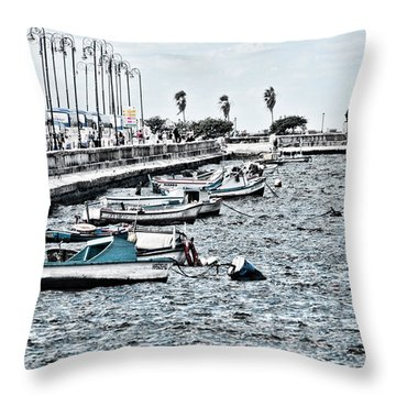 Parked And Waiting Throw Pillow