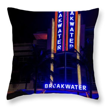 Throw Pillow featuring the photograph Parked At The Breakwater by Melinda Ledsome