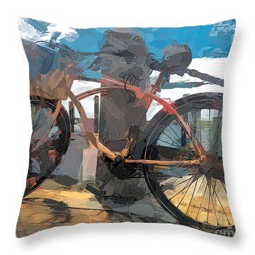 Parked At The Wharf Throw Pillow