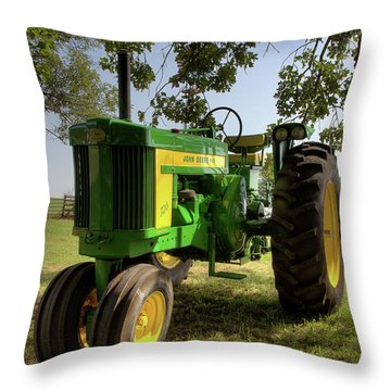 Parked John Deere 2 Throw Pillow