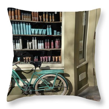 Throw Pillow featuring the photograph Parked Outside by Monte Stevens