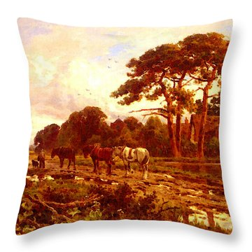 Parker Henry H The End Of The Day Throw Pillow