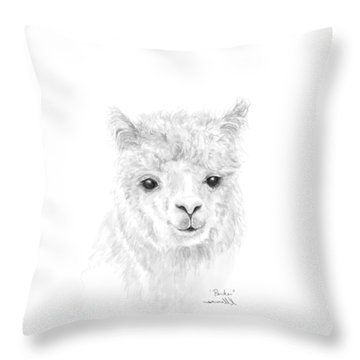 Throw Pillow featuring the drawing Parker by K Llamas
