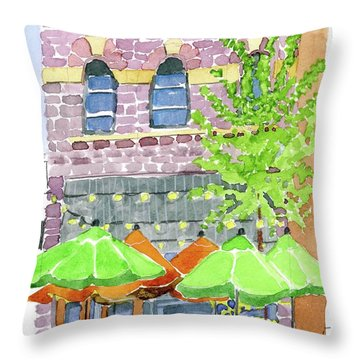Parker's Bistro Throw Pillow