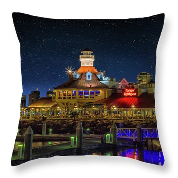 Parkers Lighthouse Throw Pillow