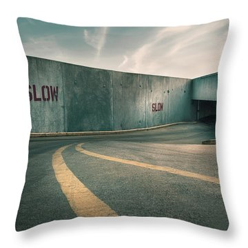 Parking Garage At The End Of The World Throw Pillow