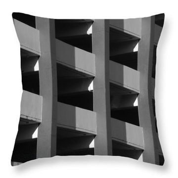 Parking Garage Milwaukee Abstract 2334 Throw Pillow