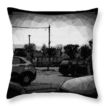 Parking Throw Pillow by Mimulux patricia no No