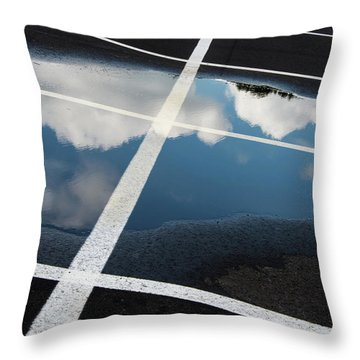 Parking Spaces For Clouds Throw Pillow