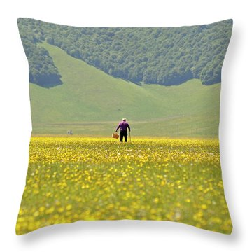 Parko Nazionale Dei Monti Sibillini, Italy 1 Throw Pillow