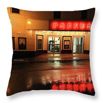 Parkway Night Throw Pillow by Dale R Carlson