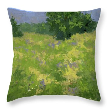 Parkway Spring Oil Throw Pillow