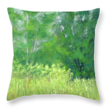 Parkway Trees Throw Pillow