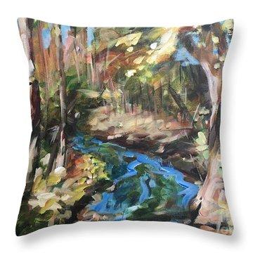 Parlee's Farm Fall Creek Throw Pillow