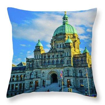Parliament Victoria Bc Throw Pillow