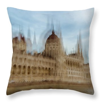 Throw Pillow featuring the photograph Parliamentary Procedure by Alex Lapidus