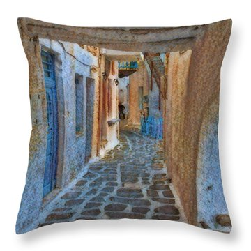 Paros Beauty Island Greece  Throw Pillow