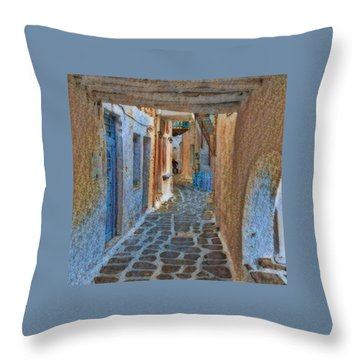 Throw Pillow featuring the photograph Paros Beauty Island Greece  by Colette V Hera Guggenheim