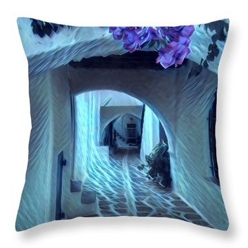 Paros Island Beauty Throw Pillow