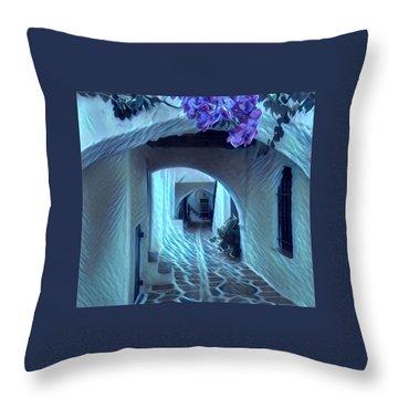 Paros Island Beauty Throw Pillow