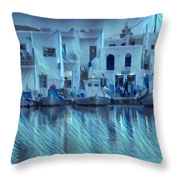 Paros Island Beauty Greece Throw Pillow