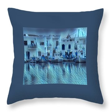 Paros Island Beauty Greece Throw Pillow