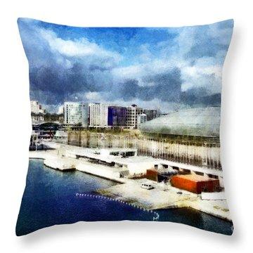 Throw Pillow featuring the photograph Parque Das Nacoes by Dariusz Gudowicz