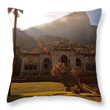 Parque De Lague Throw Pillow by Mark Nowoslawski