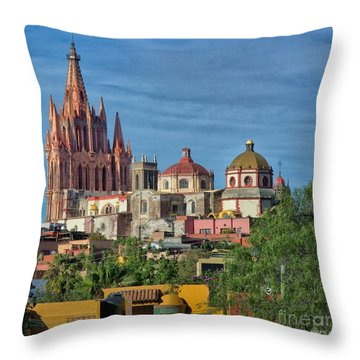 Parroquia  Throw Pillow by Nicola Fiscarelli