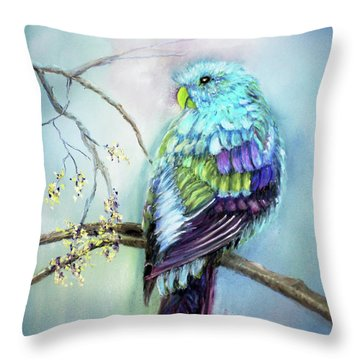 Parrot Throw Pillow by Loretta Luglio